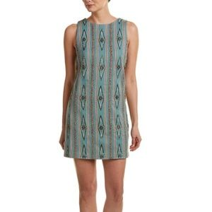Alice and Olive Clyde turquoise beaded dress